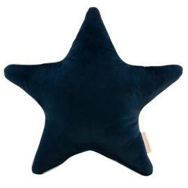 Aristote star velvet cushion - Night blue