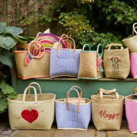 Large Raffia Shopping Bag - Natural