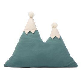 Snowy mountain cushion - magic green